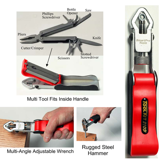 Multifunctional 11 in 1 Pocket Tool Kit