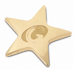 Promotional Brass Star Paperweight