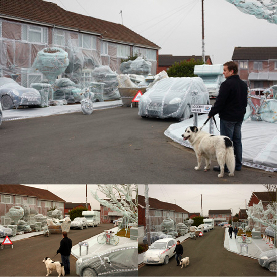 Bubble Wrapped Street - Confused.com Auto Safety Awareness