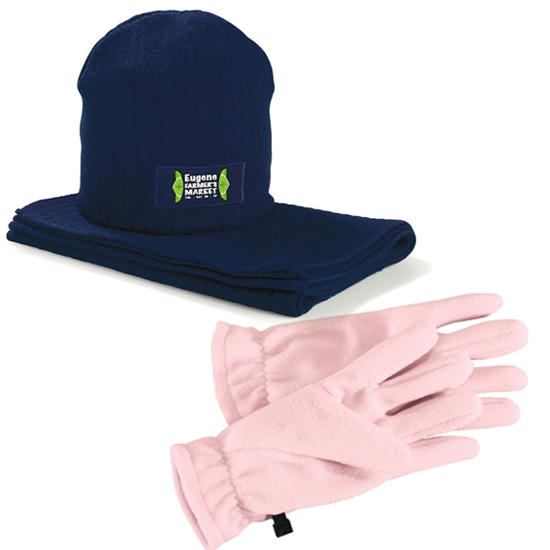 Promotional Hat Scarf and Gloves